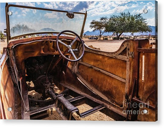 Rusty Car Leftovers Acrylic Print