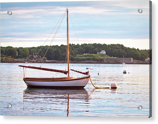 Sailboat At Sunrsie Acrylic Print by Eric Gendron