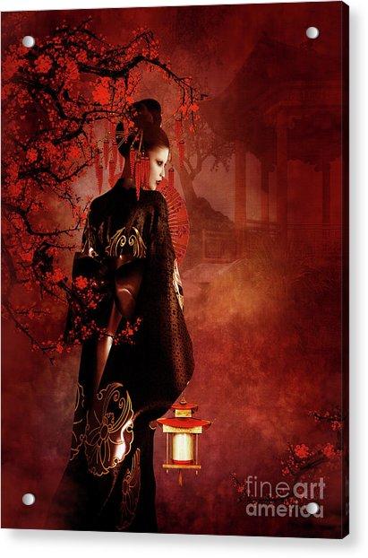 Sakura Red Acrylic Print