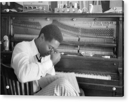 Sam Cooke At The Piano Acrylic Print