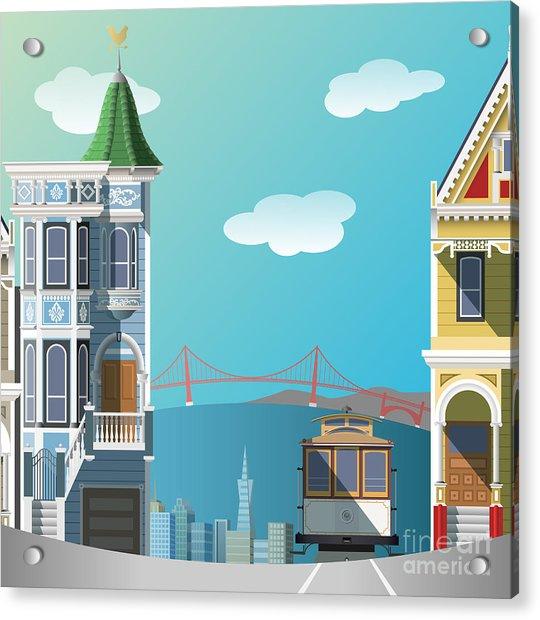 San Francisco Landscape Acrylic Print by Nikola Knezevic