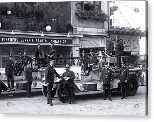 Santa Monica Firemen 1920 Acrylic Print