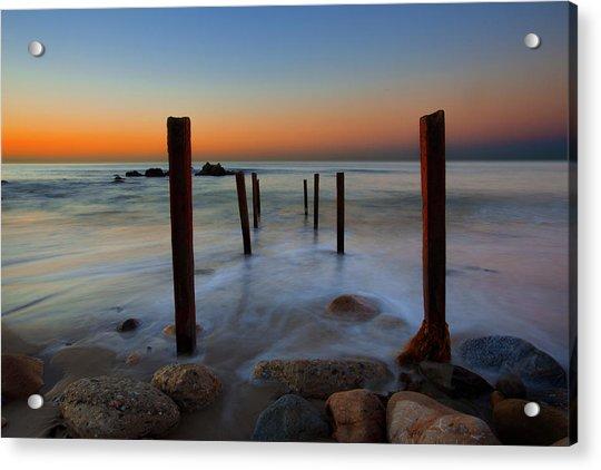 Santa Monica Sunrise Acrylic Print