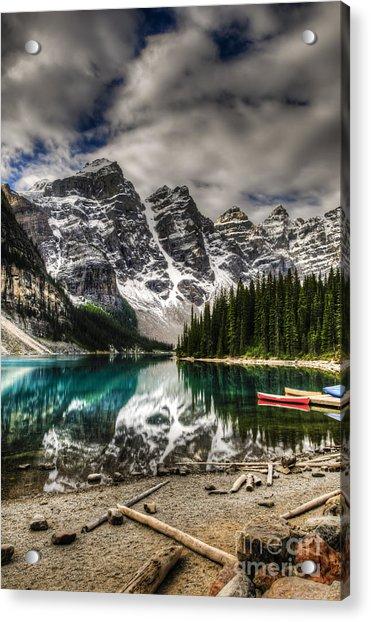 Scenic Mountain Landscape Of Moraine Acrylic Print