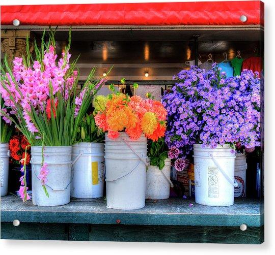Seattle Flower Market Acrylic Print