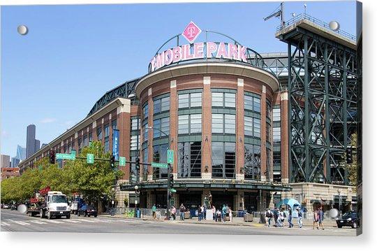Seattle Mariners Baseball T-mobile Park Seattle Washington R1454 Long Acrylic Print
