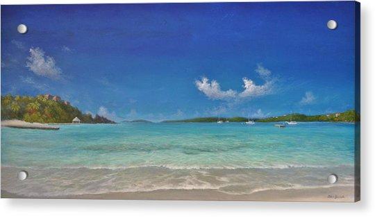 Secret Harbour Blue Acrylic Print