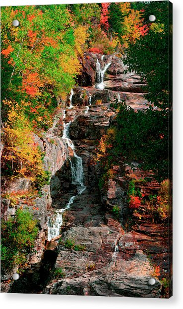 Silver Cascades In The White Mountains Acrylic Print