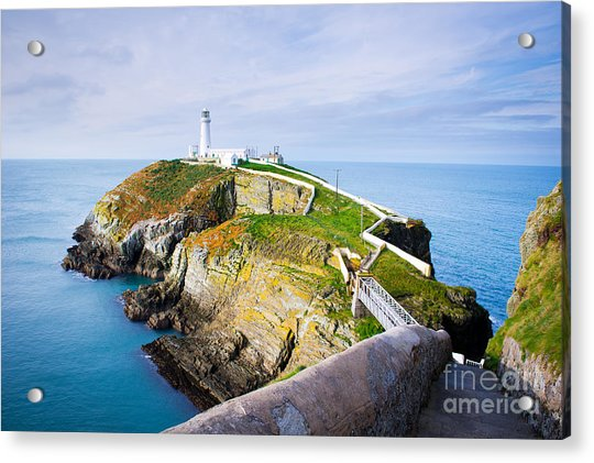 South Stack Lighthouse In Anglesey Acrylic Print