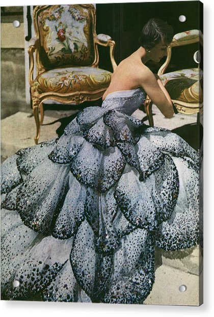 Spangled Christian Dior Evening Gown, 1949 Acrylic Print by Horst P Horst