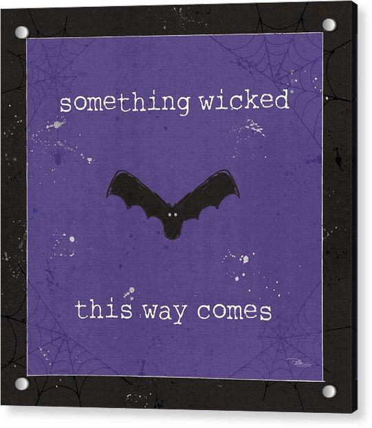 Spooky Cuties Iv Purple Acrylic Print by Pela Studio