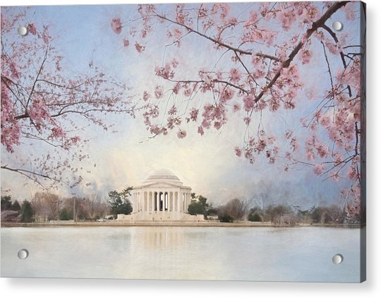 Spring At The Jefferson Memorial Acrylic Print