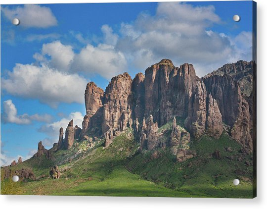 Springtime In The Superstition Mountains Acrylic Print