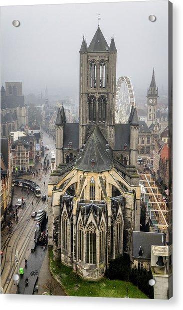 St. Nicholas Church, Ghent. Acrylic Print
