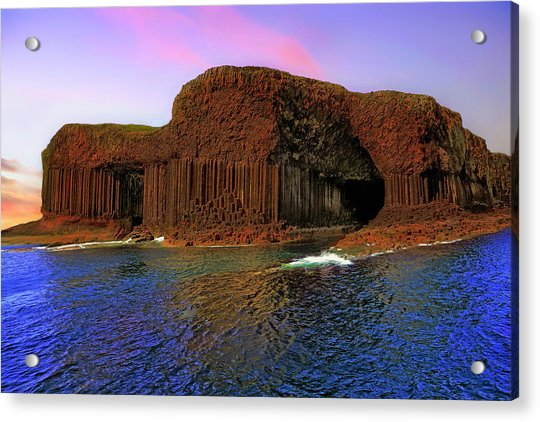 Acrylic Print featuring the photograph Staffa And Fingal's Cave - Scotland - Sunset by Jason Politte