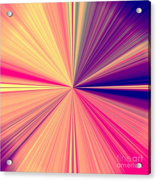 Starburst Light Beams In Abstract Design - Plb457 Acrylic Print