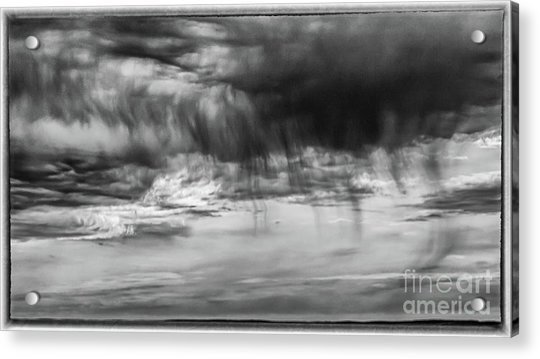 Stormy Sky In Black And White Acrylic Print
