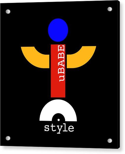 Style Black Acrylic Print