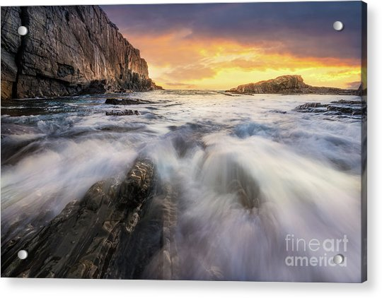 Summer Sunrise At Bald Head Cliff Acrylic Print
