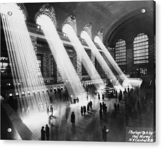 Sun Beams Into Grand Central Station Acrylic Print by Hal Morey