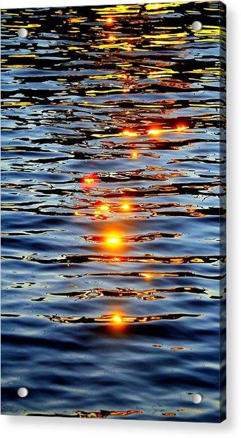 Acrylic Print featuring the photograph Sun Drops by Cynthia Guinn