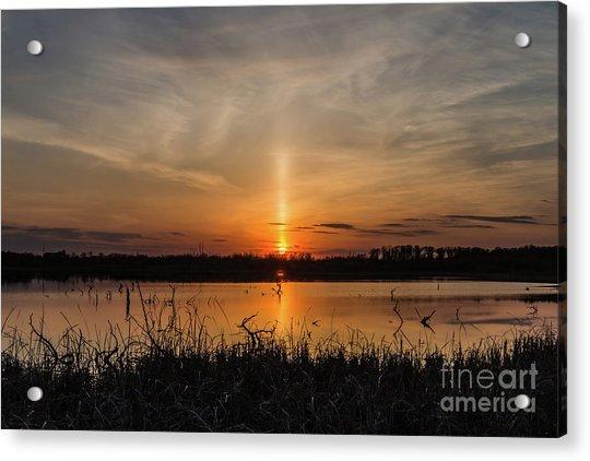 Sun Pillar Acrylic Print