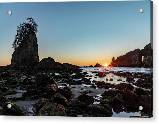 Sunburst At The Beach Acrylic Print