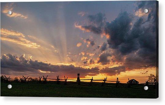 Sunrays At Sunset Acrylic Print
