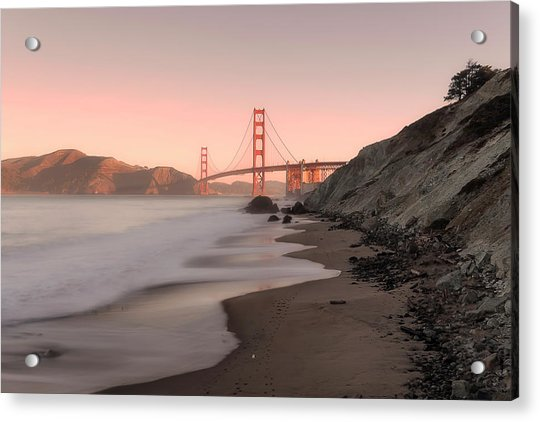 Sunrise In San Fransisco- Acrylic Print