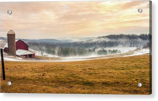 Sunrise On The Farm Acrylic Print