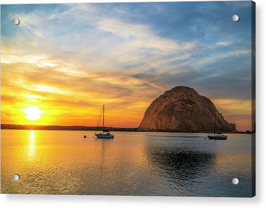 Sunset By The Bay Acrylic Print by Fernando Margolles
