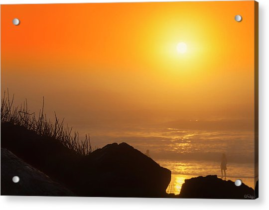 Sunset At Beverly Beach On The Oregon Coast Acrylic Print