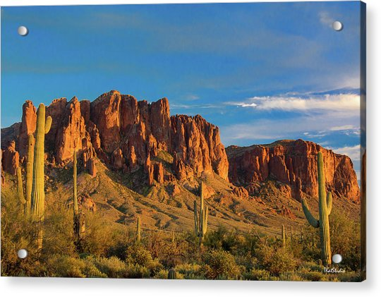 Sunset At Superstition Mountain Acrylic Print