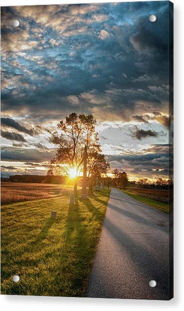 Sunset On The Field Acrylic Print
