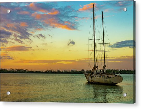 Sunset On The Lagoon Acrylic Print