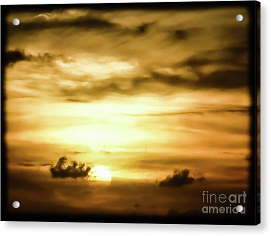 Sunset On The Pacific Ocean Acrylic Print