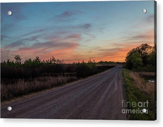 Sunset Road Acrylic Print