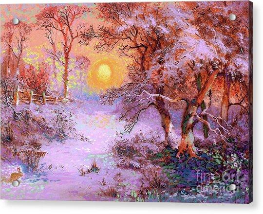 Sunset Snow Acrylic Print