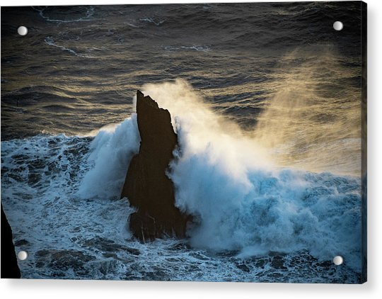 Surf At Sunset Acrylic Print