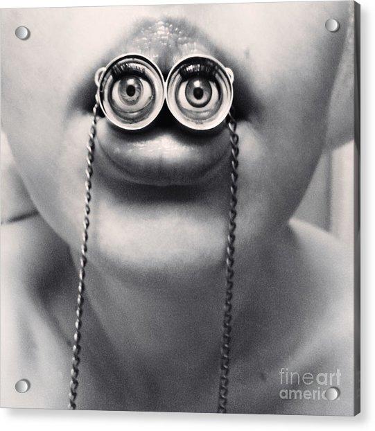 Surrealistic Grungy Portrait Of A Girl Acrylic Print