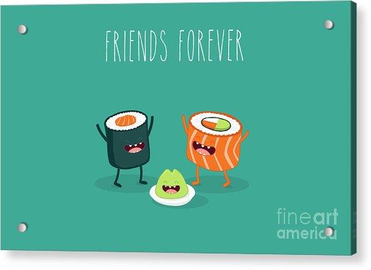 Sushi Roll And Wasabi. Japanese Food Acrylic Print
