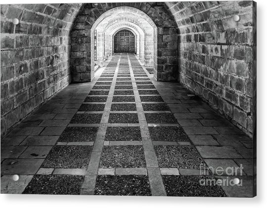 Symmetry In Black And White Acrylic Print