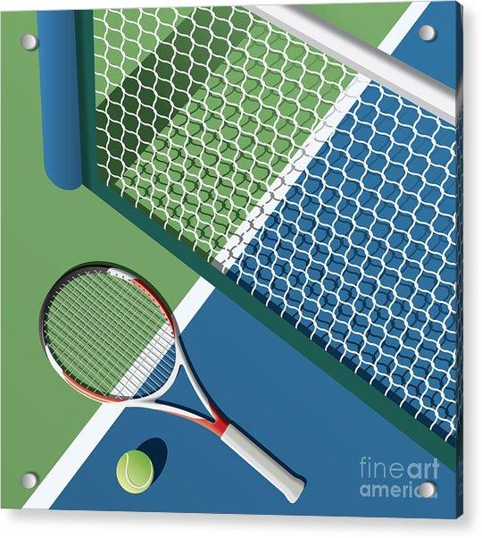 Tennis Court Acrylic Print