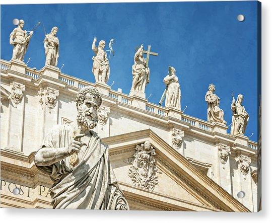 The Apostle Peter Vatican City Acrylic Print