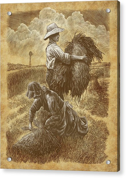 The Harvesters Acrylic Print