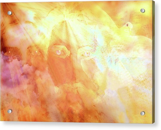 Acrylic Print featuring the painting The Holy Trinity by Valerie Anne Kelly