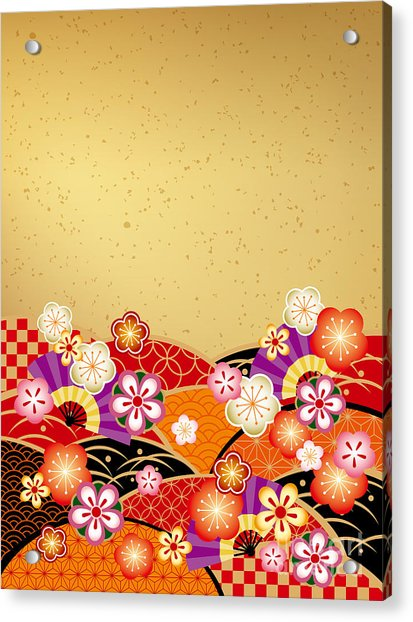 The Japanese Style Background Of The Acrylic Print