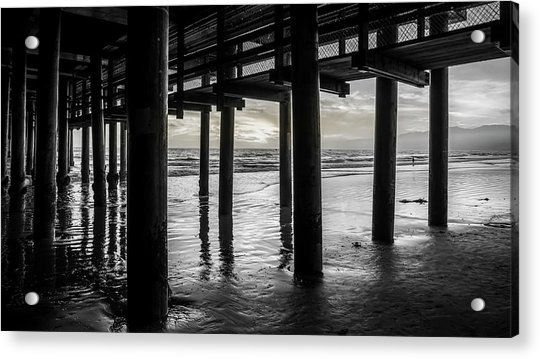 The Light Downunder - B And W Acrylic Print