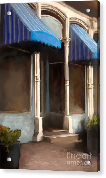 Acrylic Print featuring the digital art The M Cafe by Dwayne Glapion