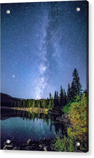 The Milky Way Over Echo Lake Acrylic Print